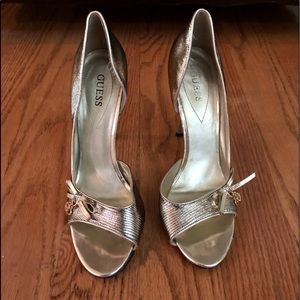"Guess Excellent Condition Gold 4"" Heels"